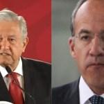 """AMLO llama """"comandante Borolas"""" a Calderón y éste le dice que no le queda el saco pero que a otros les queda grande el cargo"""