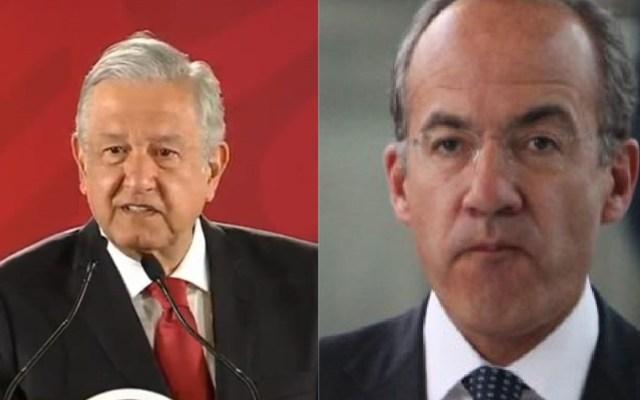 Difunden carta de Calderón a López Obrador - AMLO y Felipe Calderón. Foto de LDD