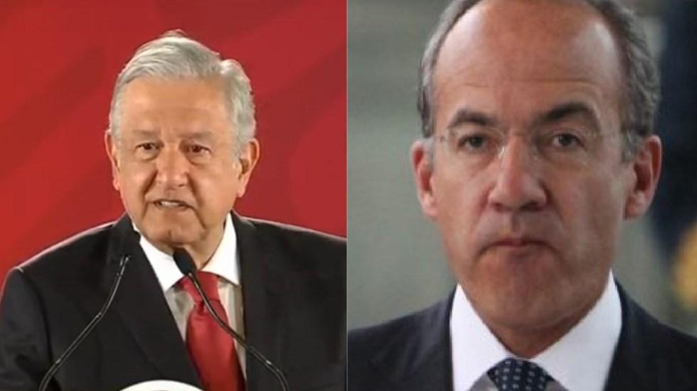 AMLO rechaza debatir con el expresidente Felipe Calderón - AMLO y Felipe Calderón. Foto de LDD