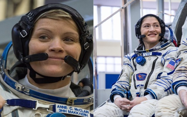 Dos mujeres realizarán caminata espacial por primera vez - Anne McClain y Christina Koch. Foto de @NASA_Astronauts y @Space_Station