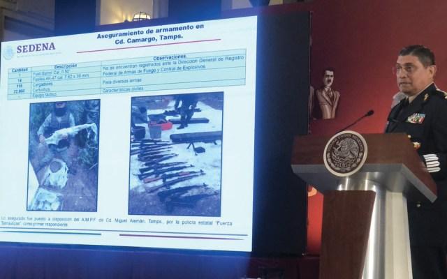 Encuentran arsenal enterrado en Tamaulipas - Foto de @TOnna_e