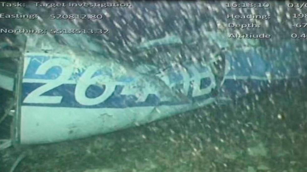 Encuentran un cuerpo en restos del avión de Emiliano Sala - Foto de AAIB