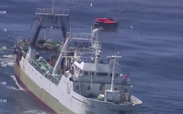 Buque chino colisiona y se hunde en el Atlántico Sur - El 'Pesca Vaqueiro', navío con el que se estrelló el buque chinoZhongyuanyu 11. Captura de pantalla