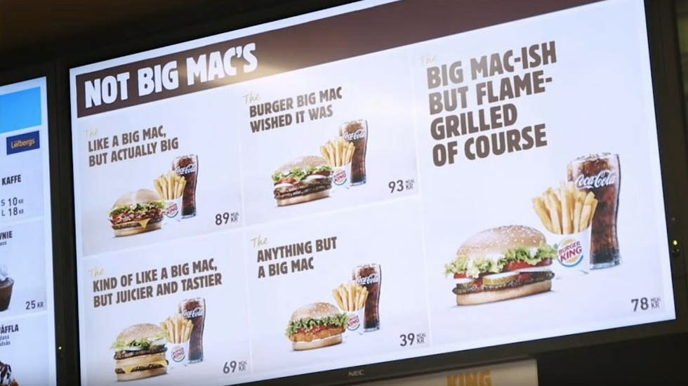 Burger King se burla de la 'Big Mac' de McDonald's - Captura de pantalla