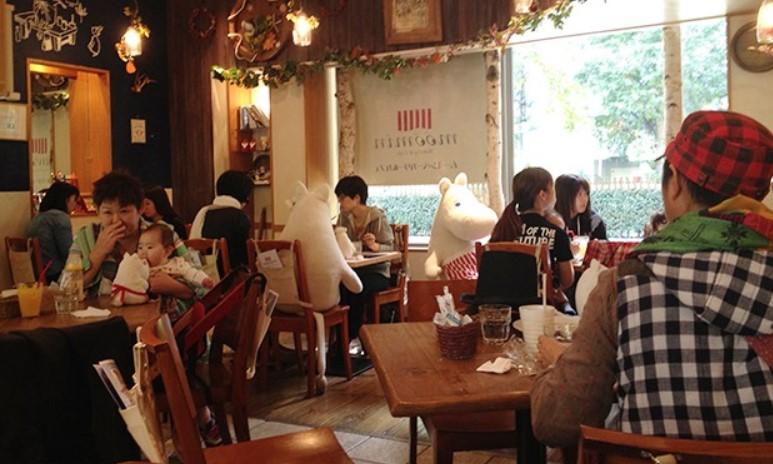 Cafetería en Japón con temática de Moomin. Foto de JaponPop