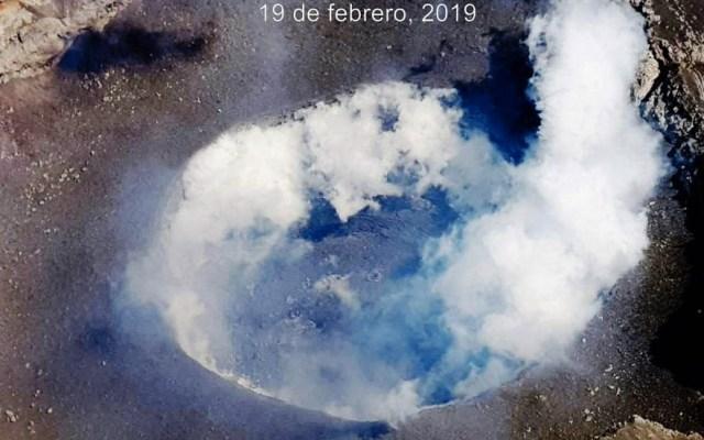 Identifican formación del domo 82 en el Popocatépetl - Se confirmó la formación del domo 82 en el cráter del Popocatépetl. Foto de Cenapred