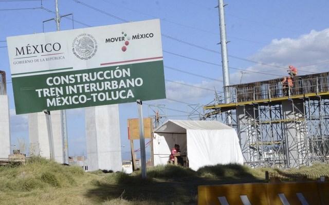 Gobierno Federal denunciará a empresas por obras inconclusas - Construcción del Tren Interurbano. Foto de Agencia MVT
