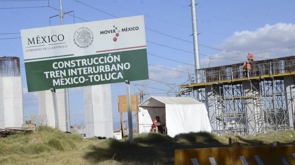 Cerrarán la México-Toluca por construcción del Tren Interurbano - Construcción del Tren Interurbano. Foto de Agencia MVT