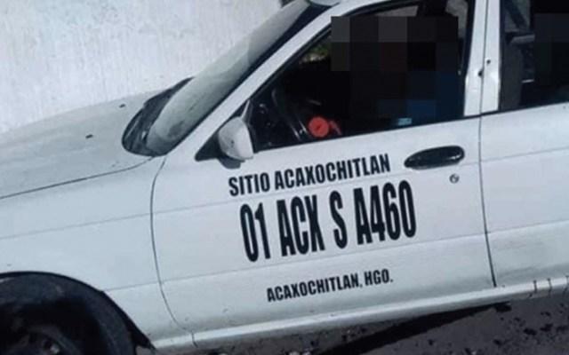 Ejecutan a tres personas dentro de taxi en Hidalgo - Foto de Excélsior