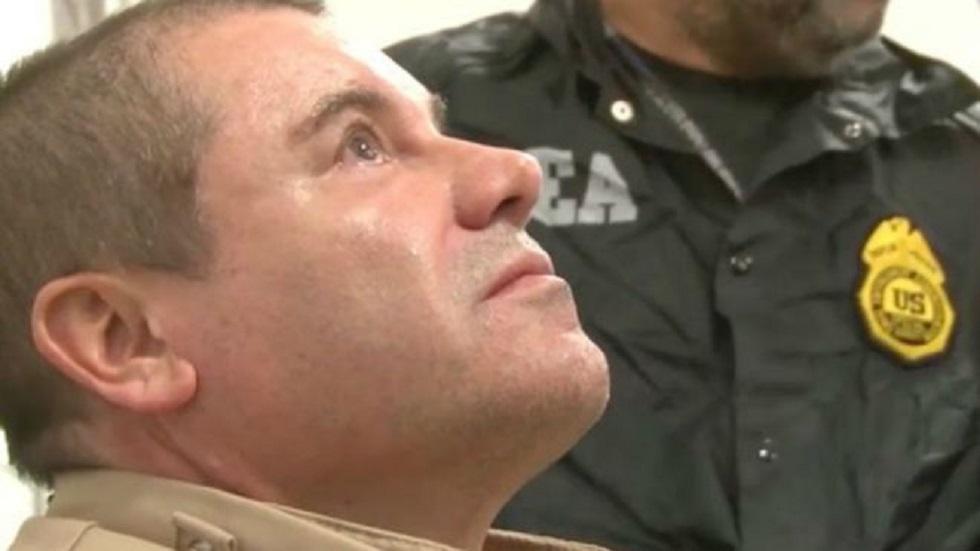 Fiscales de EE.UU. piden cadena perpetua contra 'El Chapo' - Estados Unidos 'El Chapo' Guzmás tras ser extraditado a EE.UU. Foto de DEA