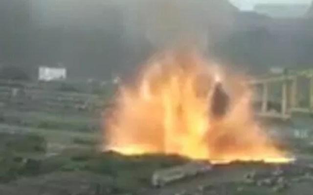 #Video Explosión en empresa acerera por reacción térmica en Michoacán - Captura de Pantalla