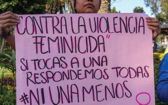 En lo que va del año se han registrado 27 feminicidios en el Edomex - Protesta contra el feminicidio. Foto de Notimex