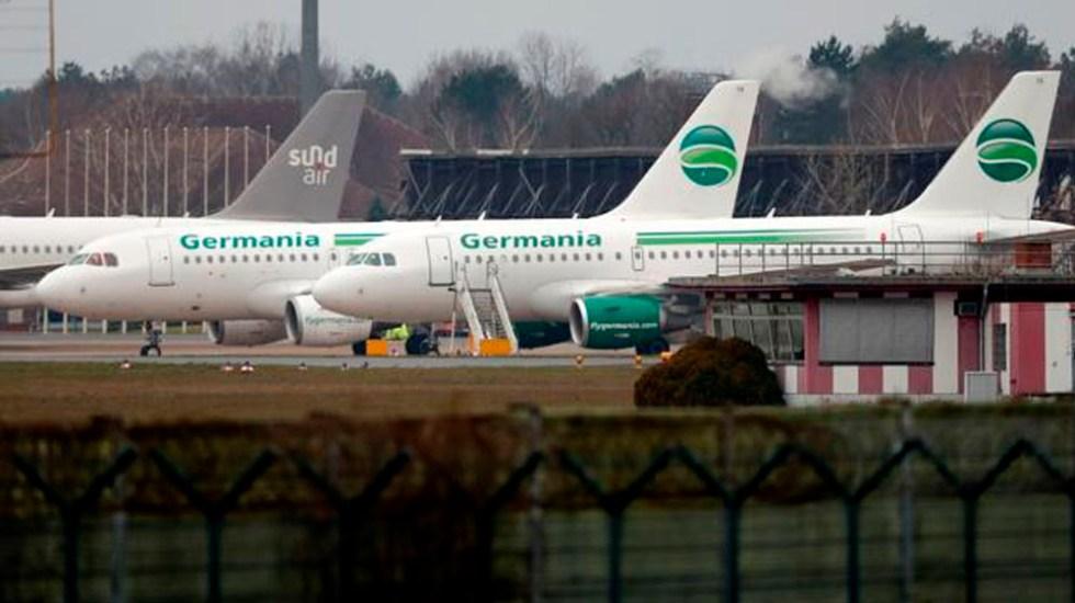Germania se declara en bancarrota y cancela todos sus vuelos - Foto de internet
