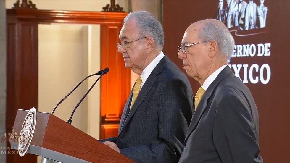 Jiménez Espriú y Carlos Morán de la SCT. Captura de pantalla