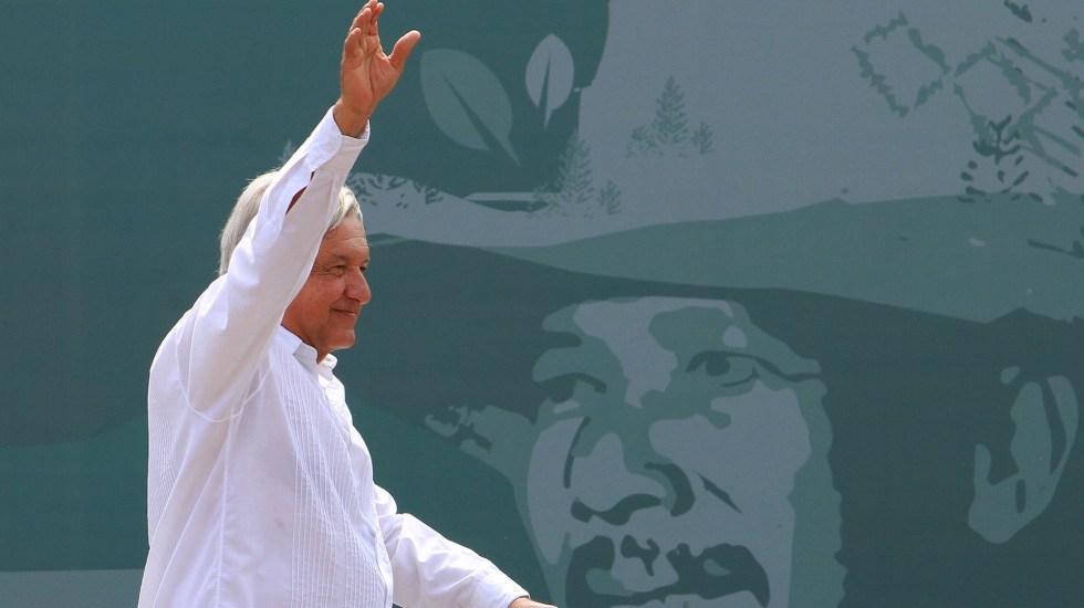 López Obrador pierde vuelo de regreso a la Ciudad de México - López Obrador. Foto de Notimex-Francisco Estrada.