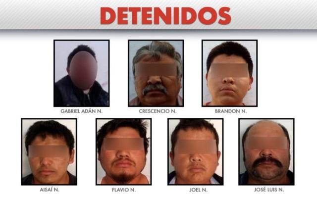 Desmantelan banda dedicada a robo de combustible y transporte en Puebla - Foto de @SSP_Puebla