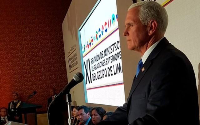 Pence pide a México reconocer a Guaidó como presidente de Venezuela - Mike Pence. Foto de @CancilleriaCol
