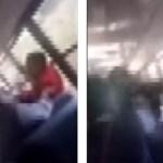 #Video Madre golpea a niño de nueve años a bordo de autobús escolar - Momento en que mujer golpea a un niño de 9 años. Captura de pantalla