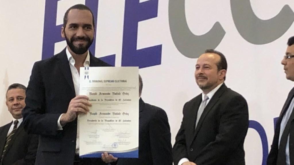 Nayib Bukele, presidente electo de El Salvador - credencial presidente electo nayib bukele