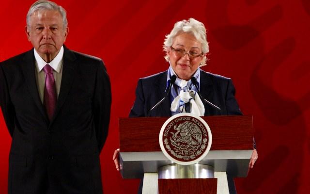 Sánchez Cordero asegura que sí declaró penthouse en EE.UU. - Olga Sánchez Cordero en conferencia matutina
