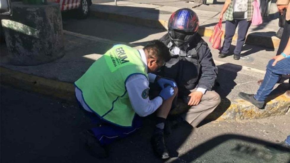 Segundo reportero herido. Foto de Excélsior