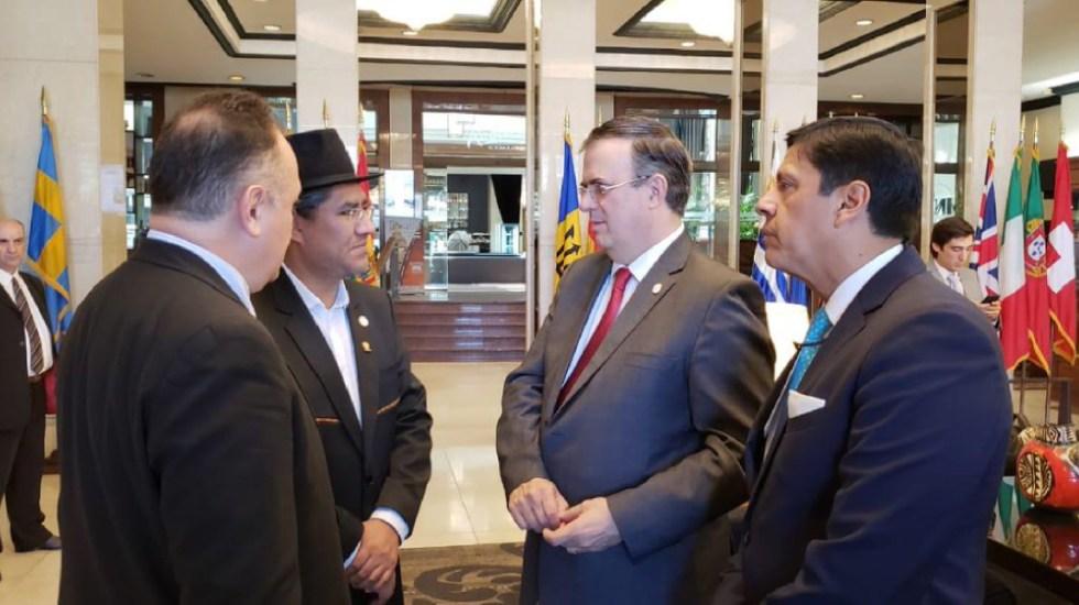 Ebrard propone mecanismo de diálogo inmediato para Venezuela - Ebrard propone mecanismo de acción inmediata en Venezuela