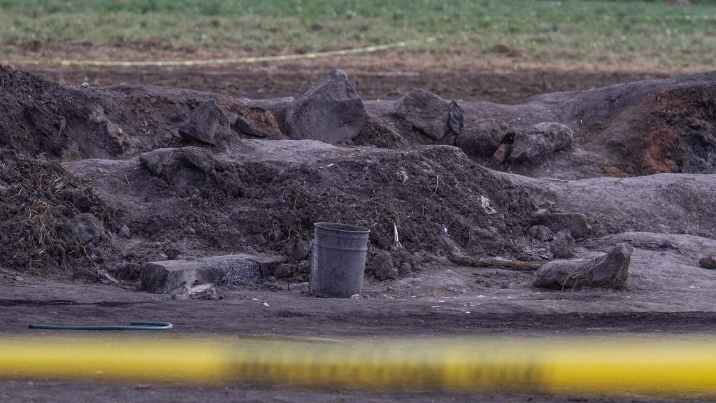 Suman 128 muertos por explosión en Tlahuelilpan, Hidalgo - Área acordonada de la explosión en Tlahuelilpan. Foto de Notimex