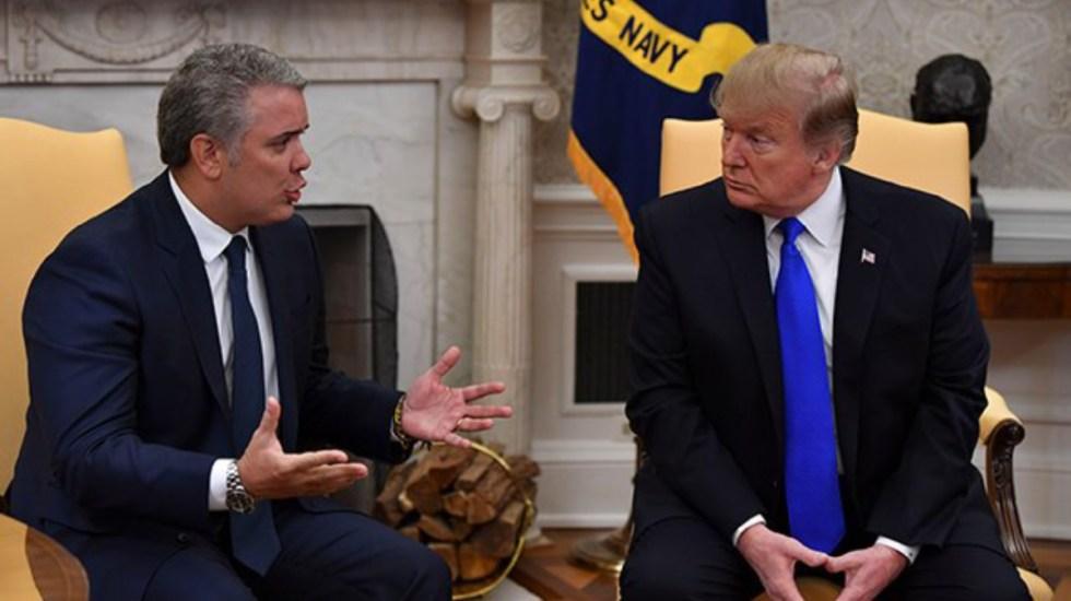 Trump llama a Colombia a acelerar erradicación de cultivos de coca - Donald Trump ivan duque coca