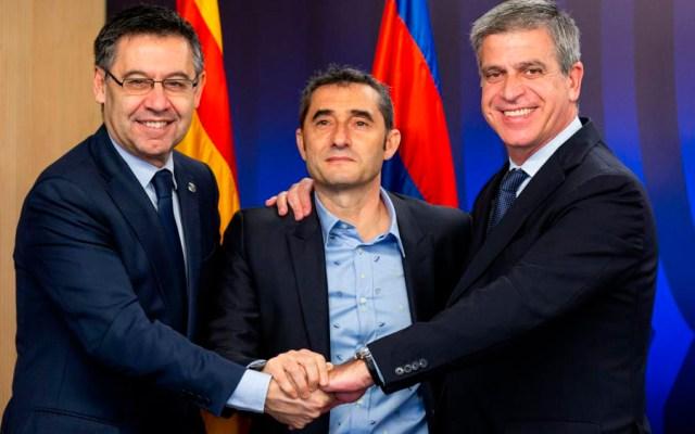 Barcelona renueva a Valverde por una temporada - Foto de @FCBarcelona_es