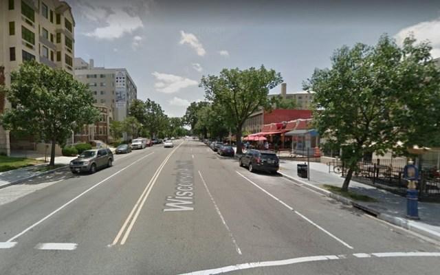 Las calles más peligrosas para transitar en Washington D.C. - Wisconsin Avenue. Foto de Google Maps