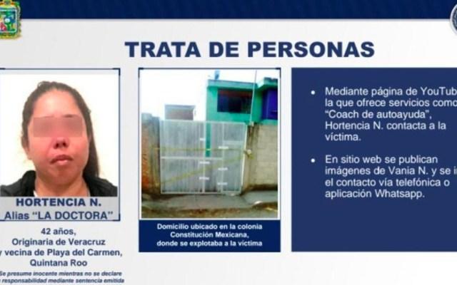 Detienen a youtuber por trata de personas en Puebla - Foto de FGE Puebla