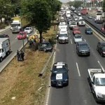 Cierran circulación en la México-Querétaro por accidente; hay dos atropellados - Foto de @VisionUrbanaMX