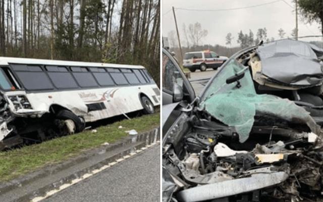 Al menos 22 heridos en choque en Carolina del Sur - Captura de pantalla