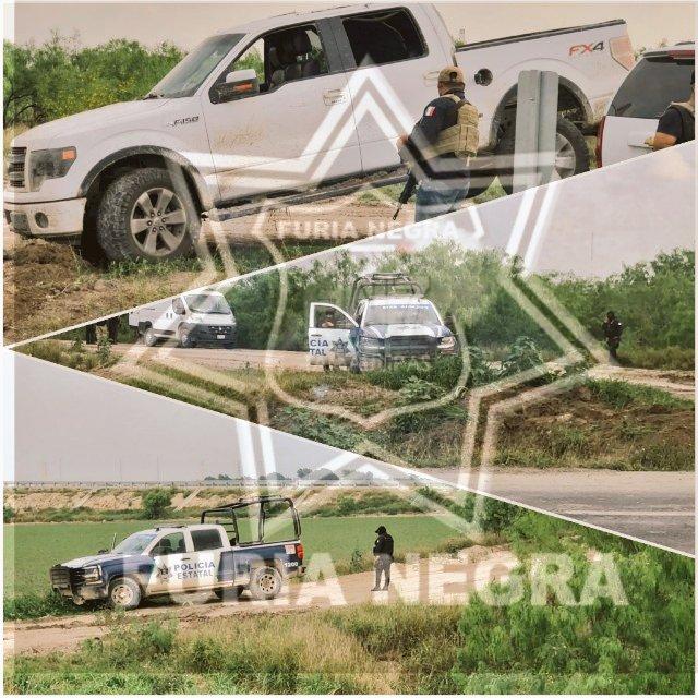 Actuación de la Policía Estatal de Tamaulipas. Foto de @FuriaNegra7