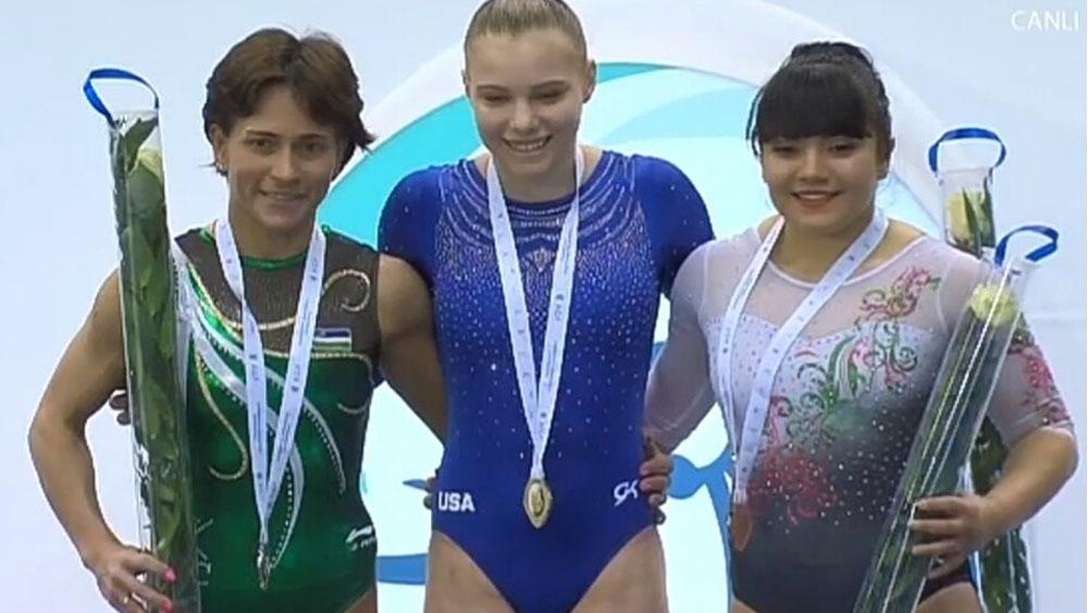 Alexa Moreno gana bronce en Copa del Mundo de Gimnasia - Foto Especial