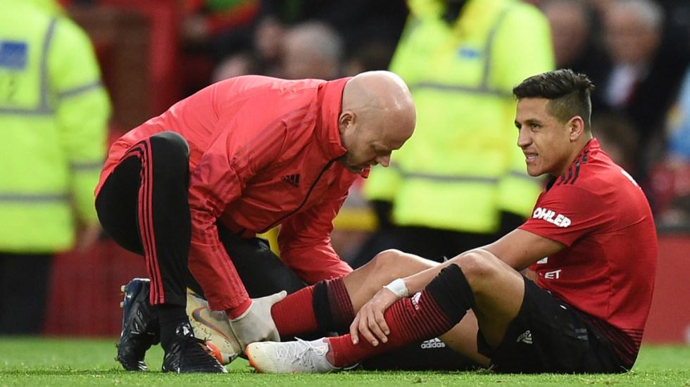 AlexisSánchez baja del Manchester United entre cuatro y seis semanas - Foto de AFP
