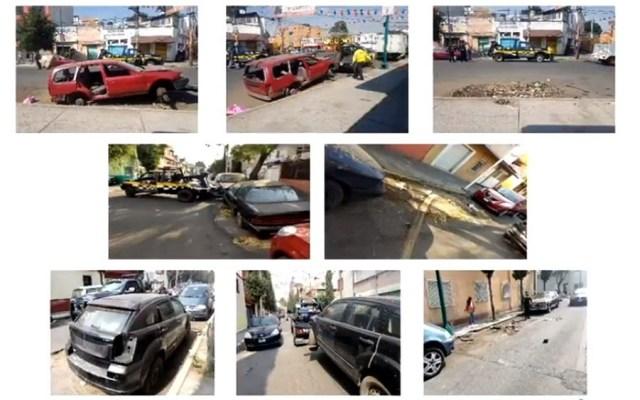 Suman dos mil 493 autos abandonados retirados de la calle en CDMX - Autos abandonados retirados de las calles de la CDMX. Captura de pantalla