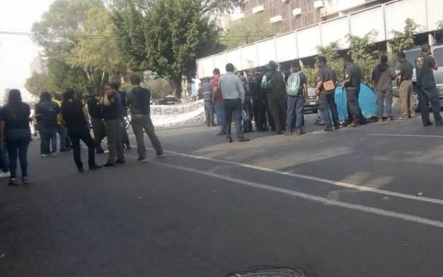 Bomberos bloquean Calzada de Tlalpan - Foto de @OVIALCDMX
