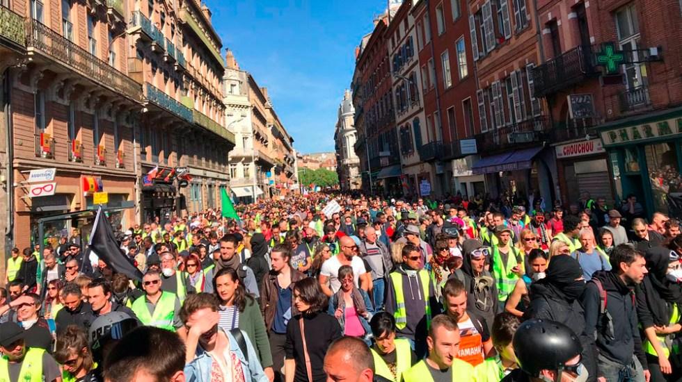 Chalecos amarillos protestan en Francia por vigésimo sábado - Protesta chalecos amarillos