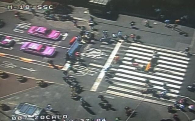 Caos vial por manifestantes en el Zócalo capitalino - Fotode @OVIALCDMX