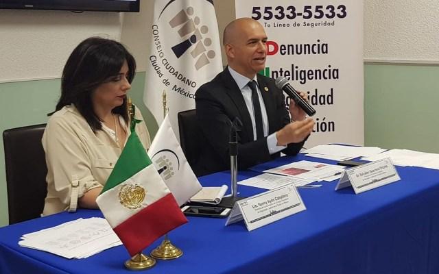 Alertan por fraudes de 'la patrona' y 'sobre amarillo' en la capital - Conferencia de prensa del Consejo Ciudadano CDMX. Foto de @elconsejomx