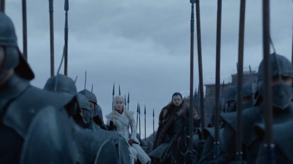 #Video Tráiler oficial de la última temporada de Game of Thrones - Daenerys y Jon. Captura de pantalla