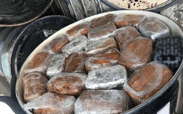 Decomisan 238 kilos de mariguana en tambos en Chihuahua - Foto de Quadratín