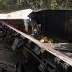 Mueren 28 personas al descarrilar tren en RDC - Descarrilamiento de tren en la RDC, en 2014. Foto de AFP
