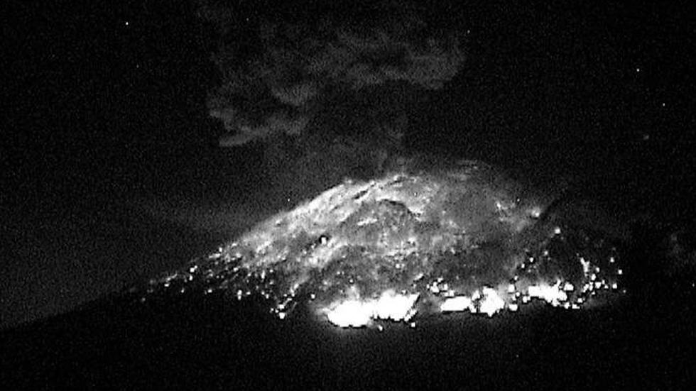 Nueva explosión del volcán Popocatépetl. Noticias en tiempo real