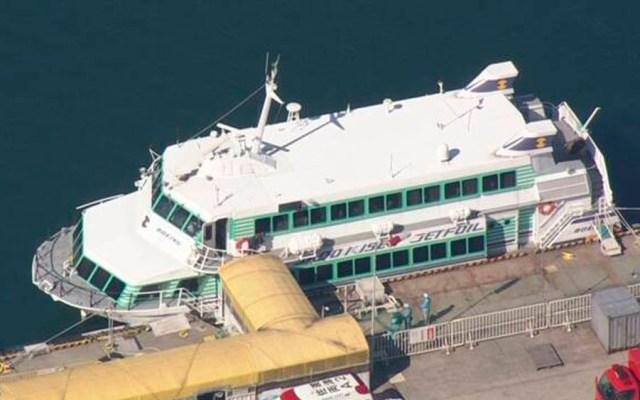 Choque de ferry deja al menos 87 heridos en Japón - Foto de NHK