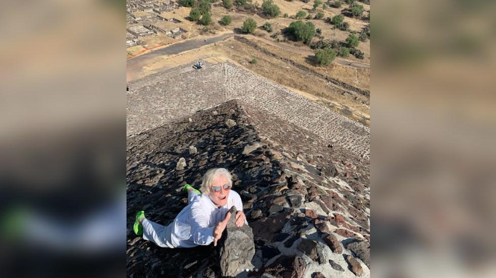 Glenn Close visita las pirámides de Teotihuacán - Foto de Glenn Close / Instagram