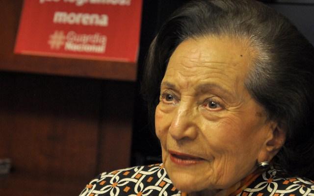 Ifigenia Martínez se ríe de exigencia de AMLO a Francisco y rey de España - Ifigenia Martínez, senadora de Morena. Foto de Notimex