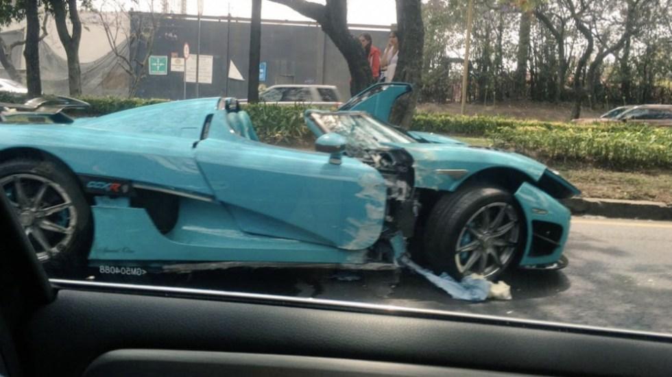 PGJ investiga al dueño del Koenigsegg CCXR accidentado en Reforma - Foto de @interautomotriz