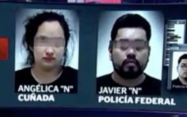 Liberan a cuñada de 'El Marro' y a su esposo por falta de elementos - Cuñada del Marro y su esposo tras ser detenidos. Foto de Noticieros Televisa